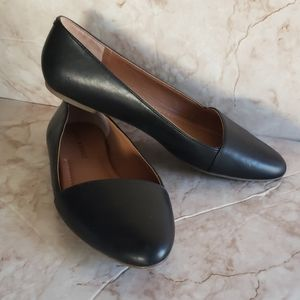 Lucky Brand black leather flats loafers 7.5